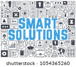 smart solutions   hand drawn... | Shutterstock .eps vector #1054365260