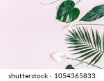 summer tropical composition.... | Shutterstock . vector #1054365833