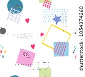 weird abstract seamless pattern.... | Shutterstock .eps vector #1054374260