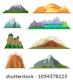 different mountain set isolated ...   Shutterstock . vector #1054378223