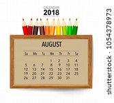 2018 calendar planner vector... | Shutterstock .eps vector #1054378973
