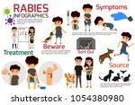 rabies infographics....   Shutterstock .eps vector #1054380980