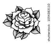 tattoo rose flower.tattoo ... | Shutterstock .eps vector #1054383110