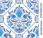traditional arabic tile...   Shutterstock .eps vector #1054384124