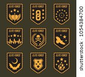 set of military army badges.... | Shutterstock .eps vector #1054384700