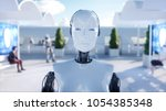 Female Robot Walking. Sci Fi...