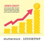 bitcoin growth concept in a... | Shutterstock .eps vector #1054385969