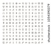 device flat icon set . single... | Shutterstock .eps vector #1054390379