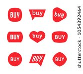 buy sign and sticker  sale tag  ... | Shutterstock .eps vector #1054392464