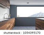 modern kitchen interior with... | Shutterstock . vector #1054395170