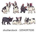 illustrations set of cute... | Shutterstock .eps vector #1054397030