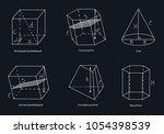 a set of geometric shapes.... | Shutterstock .eps vector #1054398539