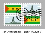 sao tome and principe flag and... | Shutterstock .eps vector #1054402253