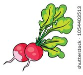 radish sketch icon. vector... | Shutterstock .eps vector #1054403513