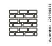 brick wall icon vector. line...