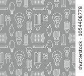 light bulbs seamless pattern... | Shutterstock .eps vector #1054408778