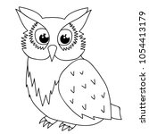isolated owl character  book... | Shutterstock .eps vector #1054413179