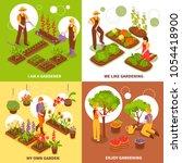 gardening isometric concept... | Shutterstock .eps vector #1054418900