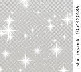 bright shimmering sparkling...   Shutterstock .eps vector #1054420586