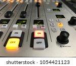 radio fader. concept of live... | Shutterstock . vector #1054421123