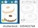 preschool worksheet for... | Shutterstock .eps vector #1054421768