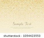 background design in arabesque... | Shutterstock .eps vector #1054423553