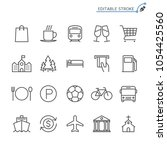 map and location line icons.... | Shutterstock .eps vector #1054425560