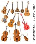stringed musical instruments ...   Shutterstock .eps vector #1054427864