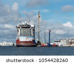 saint nazaire france  march 16  ... | Shutterstock . vector #1054428260