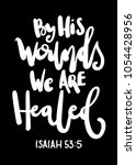 by his wounds we can healed.... | Shutterstock .eps vector #1054428956