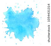 colorful  watercolor blots on... | Shutterstock .eps vector #1054431314