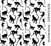 seamless pattern of monkey... | Shutterstock .eps vector #1054431626