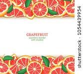 ripe grapefruit fruit...   Shutterstock .eps vector #1054439954