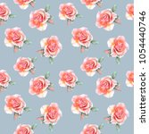 seamless floral pattern with... | Shutterstock . vector #1054440746