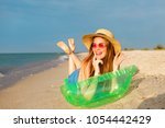 lifestyle portrait of happy... | Shutterstock . vector #1054442429