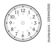 modern detailed clock face... | Shutterstock .eps vector #1054443500