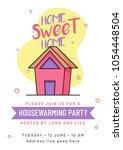 housewarming party invitation... | Shutterstock .eps vector #1054448504