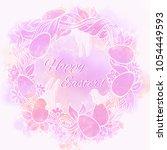 easter print. beautiful pink... | Shutterstock . vector #1054449593