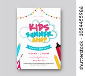 summer camp poster  flyer or... | Shutterstock .eps vector #1054455986
