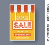 garage or yard sale event... | Shutterstock .eps vector #1054458803