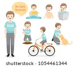 people  activities  habit ... | Shutterstock .eps vector #1054461344