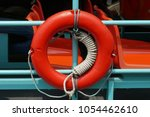 safety equipment  life buoy or... | Shutterstock . vector #1054462610