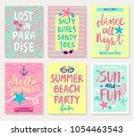 summer hand drawn motivation... | Shutterstock .eps vector #1054463543