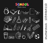 welcome back to school vector... | Shutterstock .eps vector #1054464110