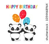 greeting card for birthday with ... | Shutterstock .eps vector #1054468964