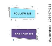 set of follow me and follow us...   Shutterstock .eps vector #1054474388
