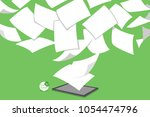 concept of stack white... | Shutterstock .eps vector #1054474796