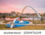 des moines iowa skyline and... | Shutterstock . vector #1054476149