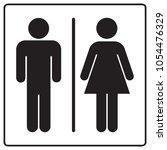 male and female bathroom line... | Shutterstock .eps vector #1054476329