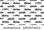 vintage racing car vector...   Shutterstock .eps vector #1054476413